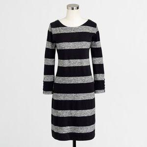 J. Crew Cotton Stripe Boatneck Dress